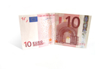 Isolated 10 Euro Bill